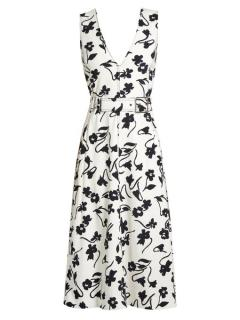 Altuzarra Helen V-Neck floral print crepe midi dress