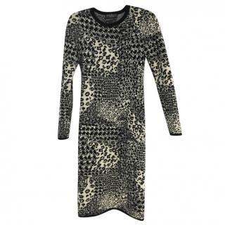 Salvatore Ferragamo knit printed dress