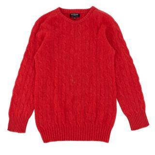 Harrods Girls Cashmere Knit Jumper