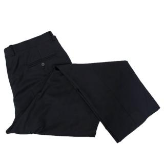 Faconnable Navy Blue Wool Trousers