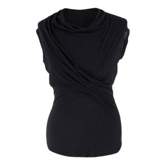 Rick Owens Lillies Black Draped Top