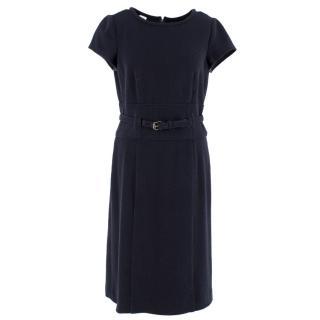 Armani Collezioni Navy Wool Dress