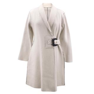 Bespoke Wool-Blend Contrast Stitch Coat