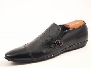 Cesare Paciotti Men's Black Leather Loafers