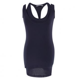 Donna Karen Navy Double Vest Top