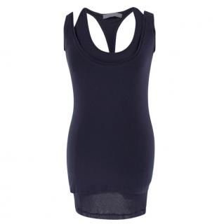 Donna Karen Navy Double Vest Top