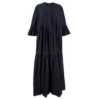 Cynthia Rowley Ruffled Navy Maxi Dress