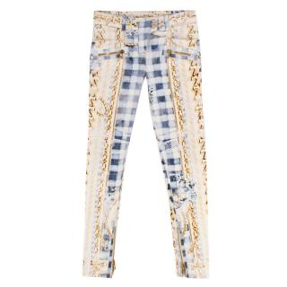 Balmain Multicoloured Patterned Jeans