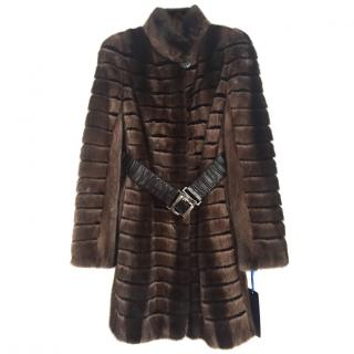 Pintadera Italian mink fur coat