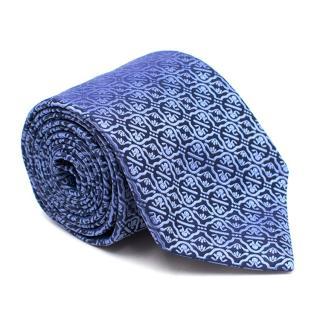 Eton Silk Blue Brocade Patterned Tie