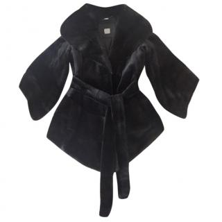 Saga Black fur mink coat