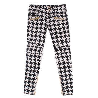 Balmain Houndstooth Coated Jeans