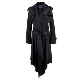 Sharon Wauchob Black Long Trench Coat