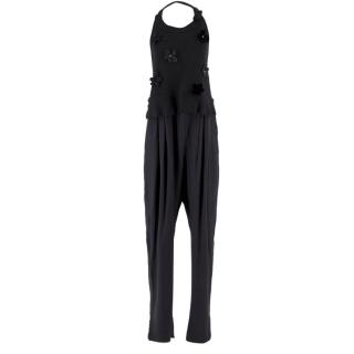 Sonia by Sonia Rykiel Embellished Silk Jumpsuit