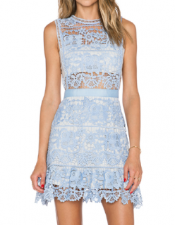 Self Portrait lace peplum mini dress