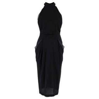 John Paul Gaultier High-neck Open-back Midi Dress