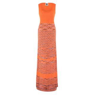 M Missoni Orange Knit Maxi Dress