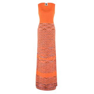 M Missoni Orange Knit Maxi Dress