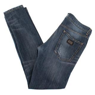 Dolce & Gabbana Slim Fit Blue Jeans