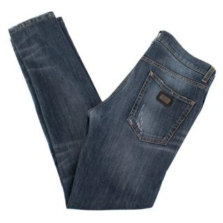 Dolce & Gabbana Slim Fit Blue Jeans