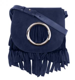 Emilio Pucci Blue Suede Fringe 'Janis' Bag