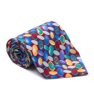 Giantone Abstract Pattern Silk Tie