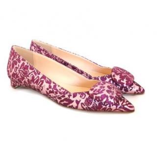 Rupert Sanderson Aga Regency Mulberry Pebble Ballerina Shoe