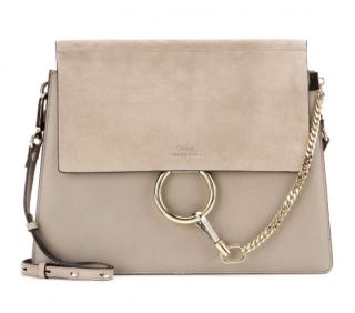 Chloe Leather & Suede Faye Shoulder Bag