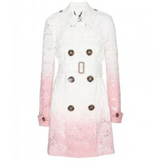 Burberry Pink Degrade Lace Trench Coat
