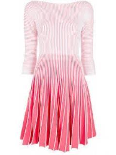 Emporio Armani Pink Knit Midi Dress