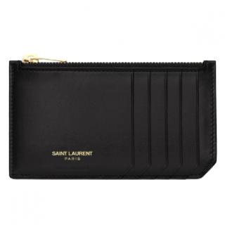 Saint Laurent Classic 5 Fragments Zip Pouch Card Holder