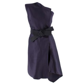 Lanvin One Shoulder Asymmetric Dress