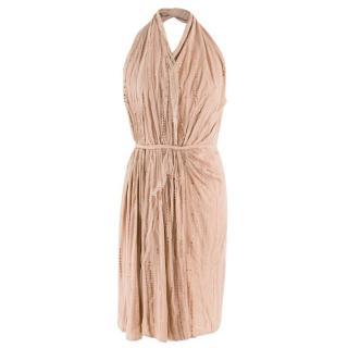 Stella McCartney Nude Halterneck Diamante Embellished Dress