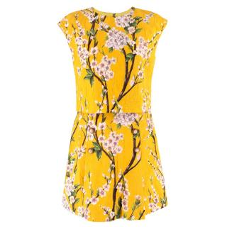 Dolce & Gabbana Yellow Top and Skirt Set