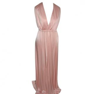 Halston Heritage Peach full length evening gown