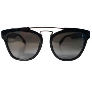 Yohji Yamamoto Grey Double Bridge Sunglasses