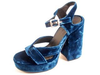 Jil Sander Platform Velvet Sandals