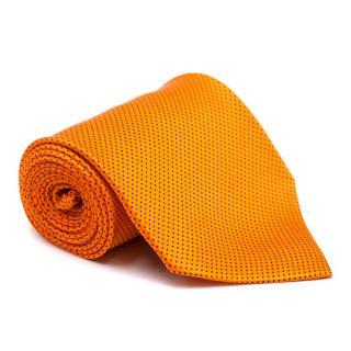 Giorgio Rafelli Orange Polkadot Silk Tie