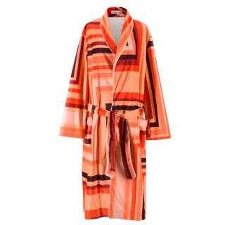 Katie Eary Men's Orange Geometric Print Robe