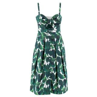 Milly Banana Leaf Jordan Mini Dress