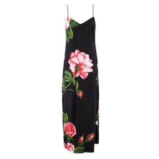LPA Silk Floral Maxi Dress