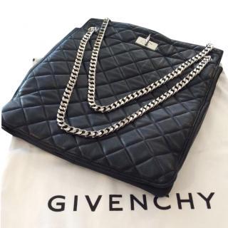 Givenchy Black Quilted Leather Large Shoulder Bag