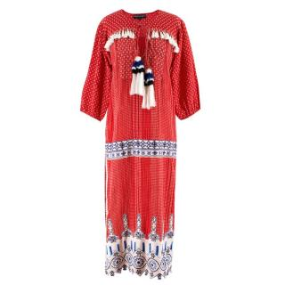 Hermant and Nandita red embroidred kaftan