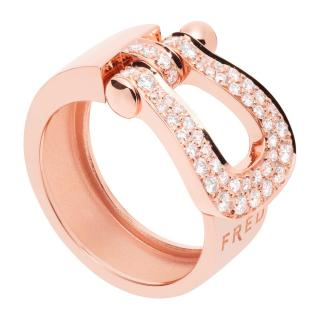 Fred rose gold and diamond ring