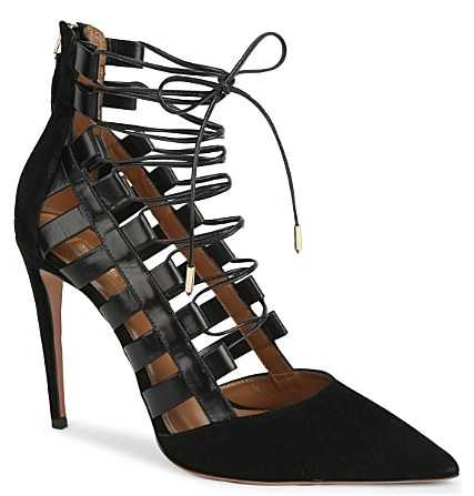 Aquazurra Amazon 105 Lace-up Pumps