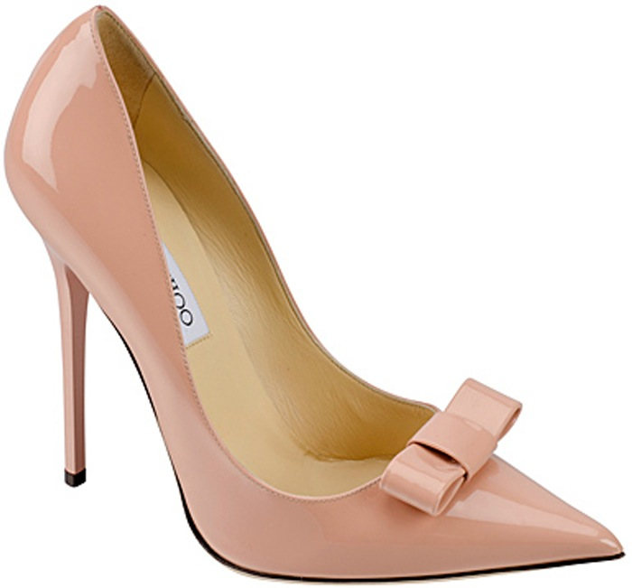 Jimmy Choo Pink Patent Bow Heels