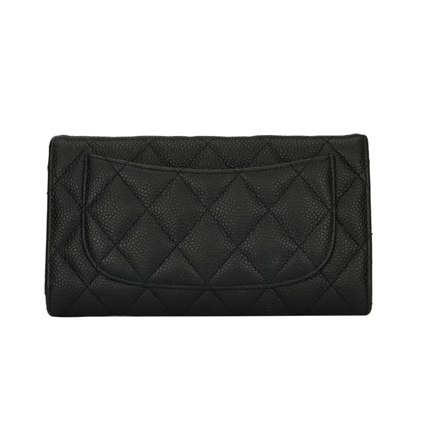 23d877cb3024 Chanel Black Caviar Classic Flap Wallet. 21. 12345678910