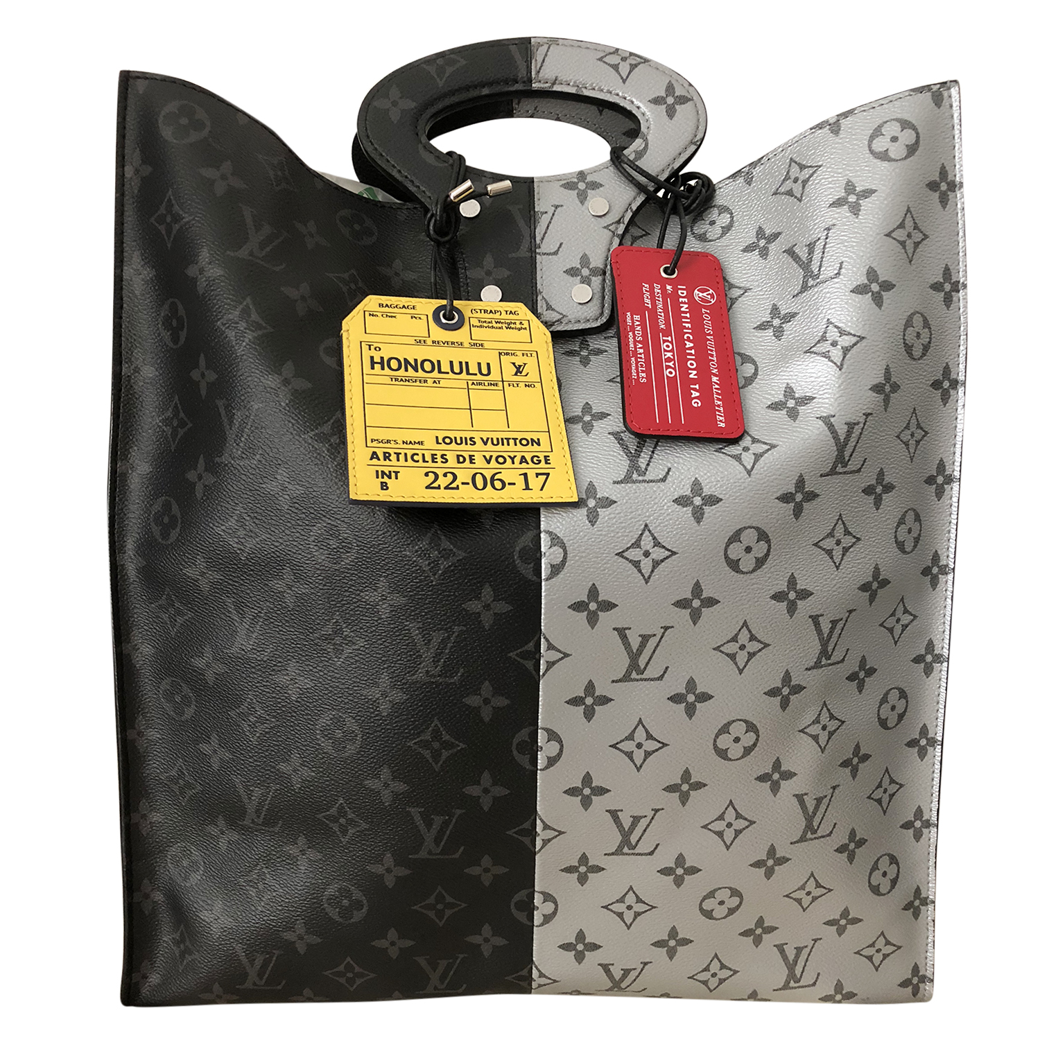 Louis Vuitton Mens Ss18 Runway Split Tote With 2 Tags   HEWI London 4f1737507f