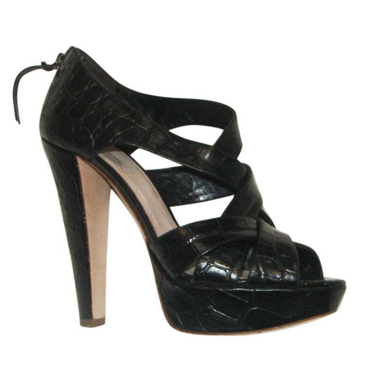 Miu Miu Crocodile Platform Sandals