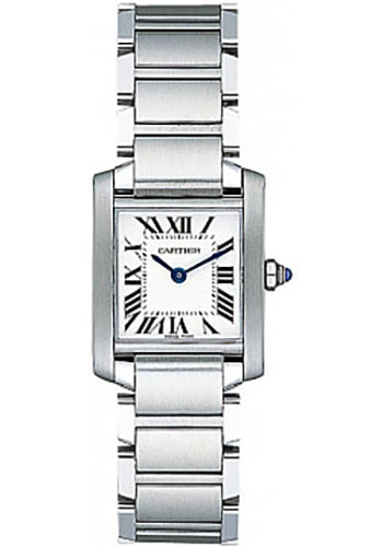 c4f64cabf28 Cartier Stainless Steel Tank Francaise Watch